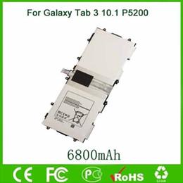 Toptan satış Samsung Galaxy Tab 3 10.1 için orijinal OEM Pil GT-P5210 P5200 P5220 P5213 Tablet Piller 6800 mAh T4500E Ücretsiz Kargo