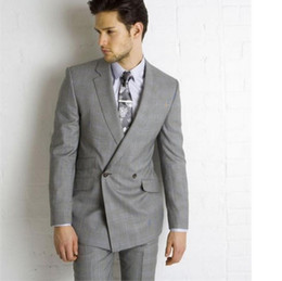 Men S Grey Double Breasted Suit Online | Men S Grey Double ...