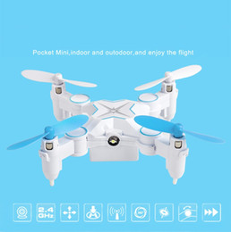 Micro Helicopter Toy Canada - Mini Foldable Drone Micro Pocket 4CH 6Axis Gyro Switchable Controller RC Helicopter Kids Toys 901 Portable Quadcopter