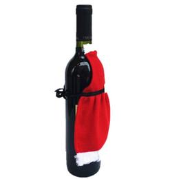 $enCountryForm.capitalKeyWord Australia - Wholesale- Red Wine Apron Bottle Cover Bags Christmas Table Decoration XMAS Home Party Decor Product EJ873019