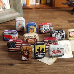 zakka candy UK - American Style Mini Tin Box Zakka Vintage Small Metal Tins storage box organizer random style