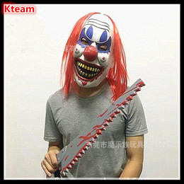 scary adult clown costumes 2018 - Funny TOY Free Shipping Joker Clown Costume Mask Creepy Evil Scary Halloween Clown Mask Fun Joker Head Mask free size di