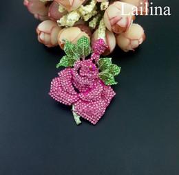 $enCountryForm.capitalKeyWord Canada - Silver-Tone Crystal Enamel Romantic Rose Flower Leaf Bridal Brooch Pink, flower rhinestone brooch