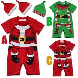 $enCountryForm.capitalKeyWord NZ - baby kids summer sets Christmas clothing suits Xmas boy rompers girls jumpsuits toddler hats infant red santa clothing gift girl boy overall