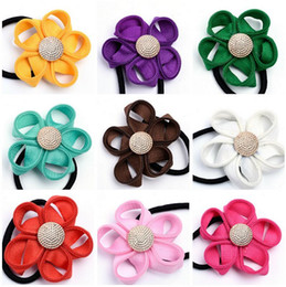 Zipper Teeth Australia - Best gift Zipper tooth edge flower gold buckle hair tie   hair ring hair rope solid color fashion FQ073 mix order 100 pieces a lot