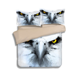 $enCountryForm.capitalKeyWord Canada - Hot Sale America Eagle Head Printing Bedding Sets Twin Full Queen King Size Fabric Cotton Duvet Covers Set Pillow Shams Comforter Owl Animal