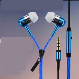 $enCountryForm.capitalKeyWord Canada - Zipper Earphones Headset 3.5MM Jack Bass Earbuds In-Ear Headphone with MIC for Iphone Samsung MP3 MP4 1000pc