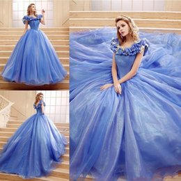 $enCountryForm.capitalKeyWord Canada - Dresses On Sale ELegant Cinderella Ball Gown Pageant Dress Chaple Train Off SHoulder Neck Lace Up Back Elegant Butterfly Cheap Price Ruched