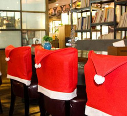 online shopping christmas decorations the christmas hat chair cloth cover for crazy party in restaurant and - Restaurant Chairs For Sale