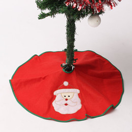 China Wholesale- Christmas Tree Skirt Santa Claus Stands Ornaments Xmas Party Decoration Father Christmas 60cm Navidad Pattern cheap standing metal tree suppliers