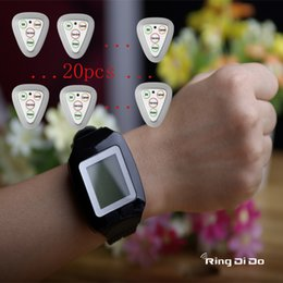 $enCountryForm.capitalKeyWord Australia - 1pcs watch+20pcs four keys Triangle buttons Wireless calling pager,wrist watch be able vibrate and didi voice to note waiter once bell butto