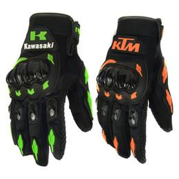KTM Kawasaki Mode Nouveau Plein Doigt Gants de Moto Motocross Luvas Guantes Vert Orange Moto Gants de Protection Gants pour Hommes