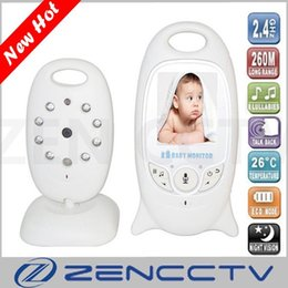 led baby monitor UK - 2.0 inch Color Video Wireless Baby Monitor Nanny Baba Electronic Camera Intercom IR LED Temperature Monitoring with 8 Lullabies