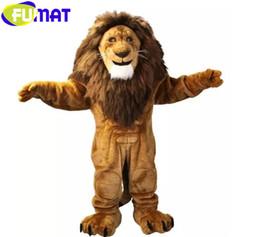 $enCountryForm.capitalKeyWord Canada - FUMAT Majestic Lion Character Cartoon Mascot Costume Adult Size Christmas Halloween Costume Fancy Dress Free Shipping