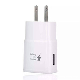 Wholesale For Samsung Galaxy S8 Note S7 Adaptive Fast Charging Wall Travel Charger V A V A Cradle Design