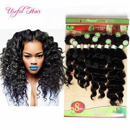 Loose Kinky Curly Hair Canada - 8inch,20inch human hair extenionS peruvian loose wave 250gram deep curly hair Brazilian human braiding hair 8bulks kinky curly for one head