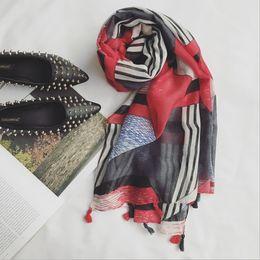 $enCountryForm.capitalKeyWord NZ - Wholesale Nepal Bali yarn scarves, female hand pendants different red geometric fight color lengthened literary shawl