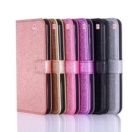 glitter iphone silicone 2019 - Bling Glitter Wallet Leather Case For Iphone I7 Iphone7 7 Plus 6 6S Samsung Galaxy S6 S7 Edge Fashion Card Stand Cell Ph