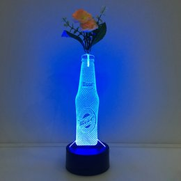 $enCountryForm.capitalKeyWord NZ - 3D Beer Bottle Illusion Lamp Night Light with Flower DC 5V USB Charging 5th Battery Wholesale Dropshipping Free Shipping Retail Box