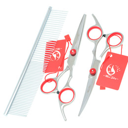 $enCountryForm.capitalKeyWord Canada - 6.0Inch Meisha Stainless Steel Professional Pet Grooming Scissors Set Pet Scissors Cutting & Thinning & Curved Dog Shears Hot Sell,HB0001