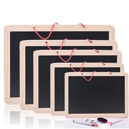 Vente en gros Mini en bois multifonction enfants écriture planche à dessin magnétique tableau noir apprentissage éducation jouets pour enfant suspendus mémo message tableau