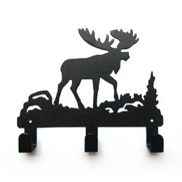 Barato Desenhos De Casaco Exclusivos-Metal Robe Hook Unique Deer Design Decorativo 3 Coat Hooks Hat / Bag / Clothes Kitchen Bathroom Wall Hanger