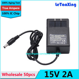 Wholesale High Quality AC 100-240V to DC 15V 2A Power Adapter Supply Charger adaptor With IC Chip US Plug 50pcs DHL free shipping
