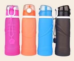 $enCountryForm.capitalKeyWord Australia - High Capacity Silicone Folding Kettle Summer Outdoor Portable Water Bottle with Lid Environmental BPA Free Hiking Bottle