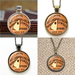 slide boards NZ - 10pcs Halloween pendant Cothic Vintage Ouija Board Pendant Glass Photo Necklace keyring bookmark cufflink earring bracelet