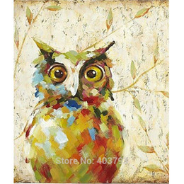 $enCountryForm.capitalKeyWord UK - 2016 New Design Cute Night Owl Oil Painting Fashion Modern Wall Art on Canvas Decorative Pictures Home Decor Christmas Gift