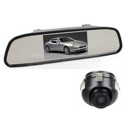 camera side car UK - 4.3inch Car LCD Rear View Mirror Monitor Car Monitor + 360 HD Rear   Front   Side View Car Camera Cam