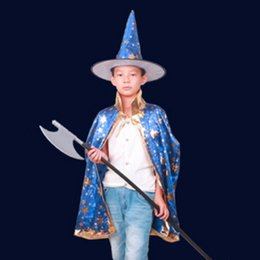 Halloween Cloak Cap Fancy Christmas Decoration Gift Dress Costumes Witch Wizard Hats Cosplay Prop for Children Costume Cape Kids Party  sc 1 st  DHgate.com & Kids Wizard Costume Online Shopping | Kids Wizard Costume for Sale