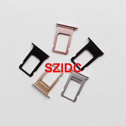 Iphone Plus Sim Free NZ - Original New Nano Sim Card Tray Slot Holder Replacement Parts For iPhone 7 Plus Replacement Parts Free Shipping