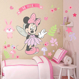 Nice Pink Minnie Wall Sticker Cute Cartoon Mouse Wall Stickers Art Vinyl Home  Decals Kids Girls Nursery Baby Girls Room Decor Mural Amazing Ideas