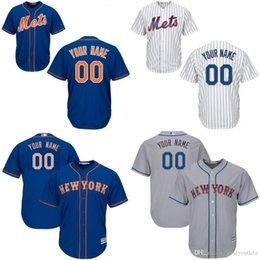 b181a9f237f ... Baseball Jerseys, Free Shipping custom grey white Youth new york mets  Customized 2016 New Cool Base Jersey stitched ...