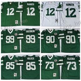 ... Retired Player Throwback Jersey Vintage 12 Joe Namath 73 Joe Klecko 90  Dennis Byrd 99 Mark ... b97cfac5c