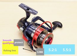 copper reel NZ - 2017 Special Am2000-7000 12bb Smoother Wheel Copper Rod Gear Transmission Structure Spinning Reels Pesca Fishing Wheel