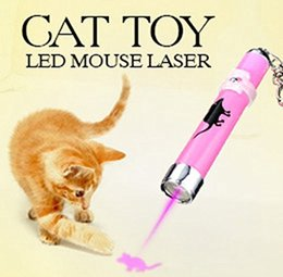 toys light bright NZ - Factory Price Creative Funny Pet Cat Toys LED Laser Pointer Light Pen With Bright Animation Mouse Fish Paw Pattern Key Ring h104