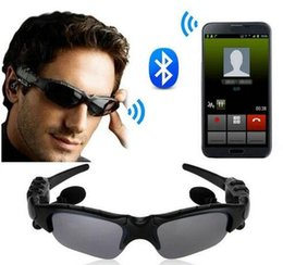 Iphone Stereo Player Australia - Sunglasses Headset smart glasses Stereo Sports Wireless Bluetooth V4.1 Headphone Handsfree Earphones Music Player For iPhone 7 7plus Samsung
