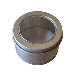 20pcs small metal round tin silver storage box case with window 656540mm discount metal tins windows