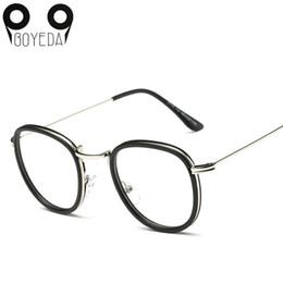 de9f3fae90 Wholesale- BOYEDA New Round Eyeglasses Frames Women Eyewear Metal Spectacle  Frame Clear Lens Computer Glasses Optical Female Grade Glasses