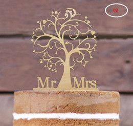Wholesale choose movies for sale – custom The wedding table centerpieces cake toppers wood material cake card wedding decorations many styles for choose can be customized