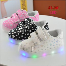 $enCountryForm.capitalKeyWord Canada - China supply cheap kids shoes 2017 new casual stars pattern spring lights led cute boy shoes girl child rubber bottom hook loop 21-30