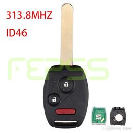 $enCountryForm.capitalKeyWord NZ - Replacement Remote Car Key Fob 3 button CWTWB1U545 313.8MHZ ID46 for Honda 2005 2006 2007 2008 2009 Fit Sport Pilot