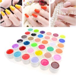 Pot De Vernis De Gel Pas Cher-Vente en gros-Belen 12pcs Pure Color LED UV Pure Colours Gel Vernis à ongles UV Nail Art DIY Décoration pour Nail Manicure 36 Pots Couleur