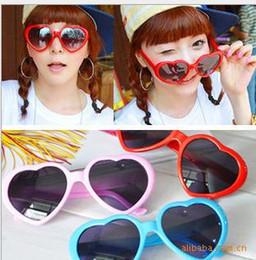 korea women sunglasses 2019 - NEW Peach heart sunglasses, Japan and South Korea of heart-shaped sunglass fashionistas love sunglasses tide beach photo