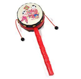 Ingrosso Giocattoli per bambini all'ingrosso, buon auspicio onda tamburo, Baby Rattle