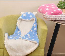 Venta al por mayor de Bebé recién nacido patrón manta niños / niñas primavera otoño otoño niños Venta al por menor boutique de ropa de moda rosa gris azul de color caqui, R1AS710-05-75