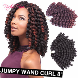 $enCountryForm.capitalKeyWord NZ - 8inch 2X jamaican bounce twist hair tresse crochet braids extensions wand curl synthetic Braiding hair Jumpy Wand Curl Twist Ombre Twist US