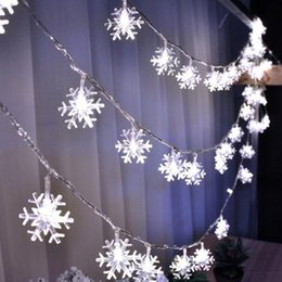 snowflake string lights 2m 3m 5m 10m 100led christmas led fairy string light for garden wedding party christmas tree lights